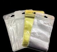 18.5 * 10cm Hoja de aluminio plateada de oro / bolso plástico de la cremallera de la válvula de la cremallera de la cremallera Paquete al por menor plástico del paquete de la cerradura del cierre relámpago del bolso