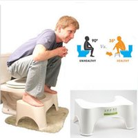 Wholesale Ergonomic Toilet Stool for Better Bowel Movements Squat Toilet Stool Comfortable Squat Aid Stool Crouch Hole Artifact New