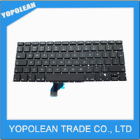 Wholesale New UK Replacement Laptop Keyboard for APPLE MacBook Pro Retina quot A1502 BLACK Backlit Laptop keyboards