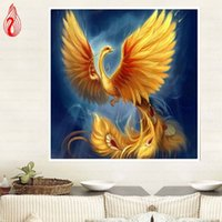 Wholesale YGS DIY D Diamond Embroidery Phoenix Needlework Round Diamond Painting Cross Stitch Kit Mosaic Painting Home Decoration
