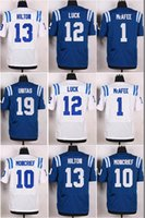 andrew luck - Men s Pat McAfee Elite Royal Blue Jerseys Donte Moncrief White Jerseys Andrew Luck T Y Hilton Johnny Unitas Frank Gore
