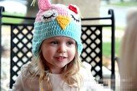 beanie babies birds - European style children knitted hats autumn winter cute bird design baby girl Knitted crochet wool hats caps beanie christmas hats