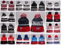 Wholesale Baseball Beanies New Arrival Los Angeles Kings Montreal Canadiens New Jersey Devils New York Rangers Mixed Sale Men Women