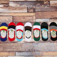 al por mayor calcetines invisibles contra-Nueva primavera y el verano de silicona invisible antideslizante calcetines mujeres calcetines verano femenino invisible calcetines tobillo