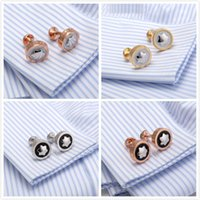Wholesale 8 style Mb Style Men Shirt Cufflinks Steel Stamping Cuff Buttons Romantic Wedding Gift Cuff Links Retail