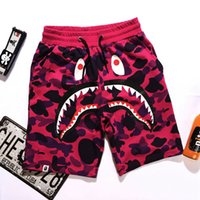 Wholesale New Style Outdoor Hip hop Short Pants Men s Shark Head Camouflage Youth Casual Shorts Panties Pants in the pants