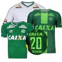 Precio de Camiseta para correr verde-Top Tailandia calidad 2017 brasil liga Chapecoense AF jerseys 16 17 fútbol camisas casa verde lejos blanco tercero SoccER Running Wear camisa