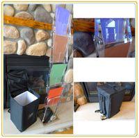 SR-E07B9 acrylic literature rack - Acrylic Literature Stand Fast Assemble Brochure Display Holder