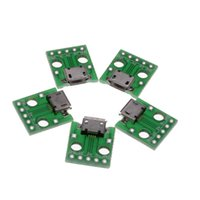 other 1E0181 other Wholesale- 5X New Micro Female USB To DIP Adapter Converter 2.54mm PCB Board Power