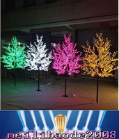 artificial lighted trees - 2017 NEW m ft Height Outdoor Artificial Christmas Tree LED Cherry Blossom Tree Light LEDs Straight Tree Trunk MYY