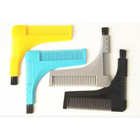 Wholesale Beard Bro Styling Comb Shaping Template Perfect Line Comb Tool Symmetry Shape Face Neck Line with brush