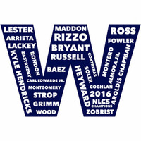 banners printing chicago - Chicago Cubs flag NLCS Champions x5 FT Sport Team digital print Banner Material Polyester two metal grommets Ross Baez Rizzo Lester