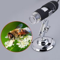 100PCS Practical Electronics 2.0MP USB 8 LED Appareil photo numérique Microscope Endoscope Magnifier 50X ~ 500X Magnification Measure Video Camera