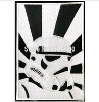 animated tv characters - 4 quot Storm Trooper Star Wars Character Sci Fi Service TV Movie Animated Costume Embroidered Emblem punk applique iron on patch