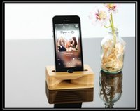 acoustic iphone speaker - Wood Stand Acoustic Desktop Stand Holder As Loud speaker Support Creative Sound Amplifier Bamboo for iPhone SE S Wooden mm