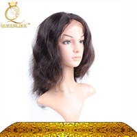 Perruque avant en lacet de 28 pouces Prix-Queenlike Affordable Full Head Lace Front Perruques Light Yaki Straight inch Couleur naturelle Indian Remy 100 Hair Hair Prix de gros