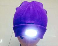 Beanie/Skull Cap Unisex Blending LED headlamp Glow Knitting fishing hat 5 leds Adult &Kids Winter Snowman Warmer cap Outdoor Skiing Sport Hat new year Gift