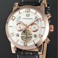 analog suit - Tourbillon Automatic Watches Luxury Men Calendar Business Suit Formal Smart Dress Rose Gold Chronograph Steampunk Mechanical Wristwatch Gift