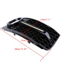 Wholesale 1 Pair Car Right Left Side Grills Auto Car Front Racing Grill Grille Exterior Accessories For Audi A4 B8 Car Parts