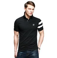 Wholesale fashion famous brand summer Printing tide male collar stone short sleeve island polo shirt