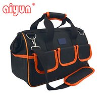 Wholesale quot x22x31cm Multifunctional Electrical Bag Tools Case Oxford Bag Electrician Canvas Tool Bag Toolkit