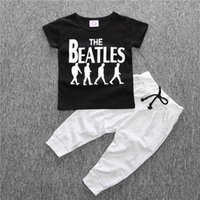 Summer beatles suit - Cool fashion Summer Baby clothing sets the beatles boy t shirt pants suits set Toddlers sportwear baby boy clothes children boys clothes