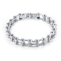 Celtic bicycle chain jewelry - European and American jewelry hot stainless steel bicycle bracelet domineering men motorcycle chain titanium steel bicycle chai
