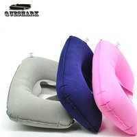 airplane neck rest - Portable Travel Air Inflatable U shape Pillow AirPlane Train Trip Neck Rest Cushion Pillow Driving Car Travel Kits Accessories