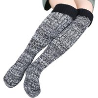 amazing winter boots - Amazing Women Step Foot Knit Woolen Yarn Over Knee Stocking High Turn Up Rib Winter Boot