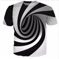 Wholesale Newest Fashion Womens mens Hypnosis Summer Style Funny D Print Casual T Shirts
