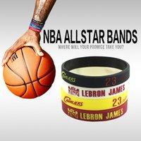Charm Bracelets bangles supplier - 4pcs LeBron James Silicone Bracelets Basketall MVP Wristbands Professional Silicone Sport Bangles Supplier Mix Color