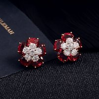 acupuncture accessories - Best Selling Earring Jewelry For Women s Popular Dangle Chandelier Gem Crystal Flower Silver Ear Acupuncture Party Luxury Accessories