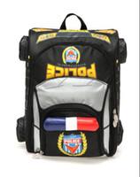 Wholesale Autokids New Fashion Children School Bags Kids Backpack Black Police Car Waterproof Orthopedic Schoolbags