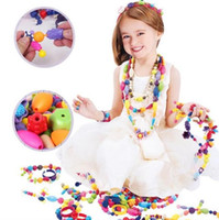 Wholesale Popular Pop Bead Ring Necklace Bracelet Model Building Kits Children Girl DIY Jewelry Toys