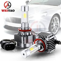 Wholesale auto LED car light LED HID headlight for cars headlight replacement kits convision kits headlight bulbs H4 H7 H11 HB4 H13