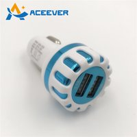 Wholesale Car Charger Adapter Dual USB Fast Charging V A Universal for I7 Samsung Galaxy S5 HTC Xiaomi
