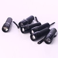 Wholesale New LED Mini Flashlights Torches W LED Led Handy Outdoor Waterproof For Sporting Camping powerful torch Aluminum Alloy Material JF