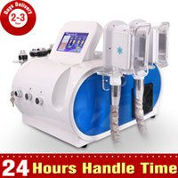 Wholesale Pro Double Handles Cavitation Cryo Cooling Systerm Cavitation RF Slimming Cellulite Wrinkle Removal Weight Loss Equipment