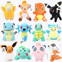 Wholesale 12pcs quot cm Poke Pocket Monsters Charmander Bulbasaur Jigglypuff Eevee Psyduck Snorlax Blastoise Horsea Cubone Plush Doll Stuffed Toy