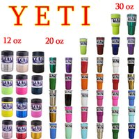 Wholesale 304 Stainless Steel oz Yeti Cool Cupser YETI Rambler Tumbler Cup Vehicle Beer Mug Double Wall Bilayer Vacuum Insulated FREE SF
