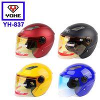 achat en gros de yohe casco moto-1 pc Casques de moto Casque ouvert YOHE YH837 Scooter électrique Capacete Casco yohe demi casque