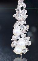 airs piercing - South Korea exaggerated long pearl diamond Falls air cushion ear clip non Pierced Earrings