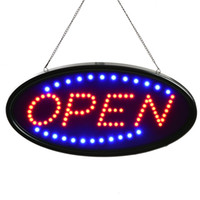 Wholesale OPEN Sign quot x9 quot LED OPEN Sign Electric Billboard Bright Advertising Board Flashing Window Display Sign with Motion quot OPEN quot Red Blue