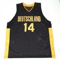basketball dirk - 2016 New Men s Dirk Nowitzki Team Deutschland Germany Basketball Jerseys Yellow Black Throwback Sewn Stitched Sport Jerseys Customize