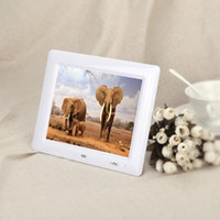 Wholesale 8 HD TFT LCD Digital Photo Frame Clock MP3 MP4 Movie Player with Remote Desktop high quality Christmas gift