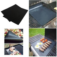 Wholesale 2016 Hot Sale set BBQ Grill Mat for Barbecue Grill Sheet Cooking Baking Microwave Oven Use Black Dinner Party Accessories