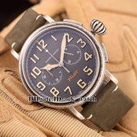 NOUVEAU arrivé Marque de luxe Pilot Hommes Haute qualité VK Quartz Chronograph 11.2430.4069 / 21.C773 47mm large cadran Montres bracelet en cuir