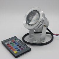 Wholesale 10W V Underwater Light RGB Waterproof IP68 fountain pool Lamp Lights color change With IR Remote controller
