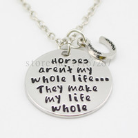 barrel racing - new arrive quot Horses aren t my whole life They make my life whole quot Necklace Equestrian Horses Back Riding Barrel Racing Love