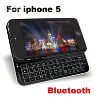 Wholesale 1pc Ultra Thin Slide out Bluetooth V3 Wireless Keyboard Protective Back Case with Backlight for iPhone th G